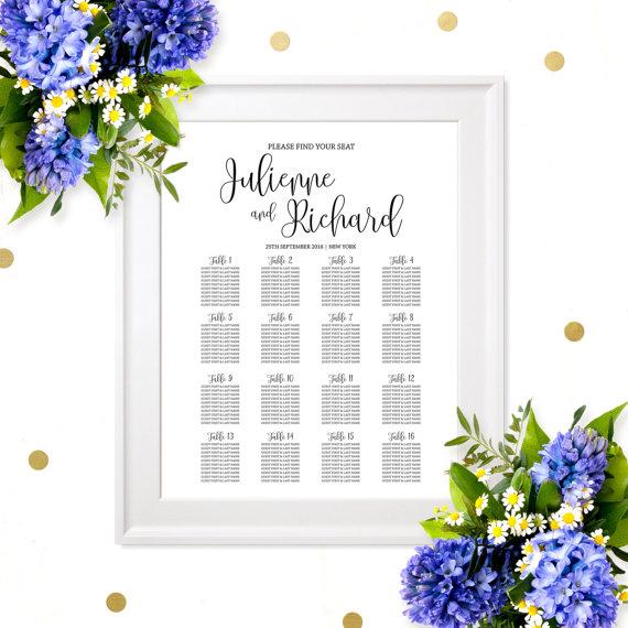 زفاف - Wedding Seating Chart Poster-Printable Welcome Wedding Seating Chart Board-Rehearsal Dinner Seating Chart Sign- Find your Seat Wedding Sign
