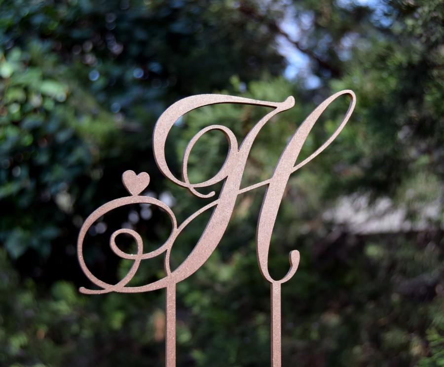 Wedding - Cake Topper Personalized Monogram Keepcake Wedding Cake Topper Rustic Wedding Cake topper