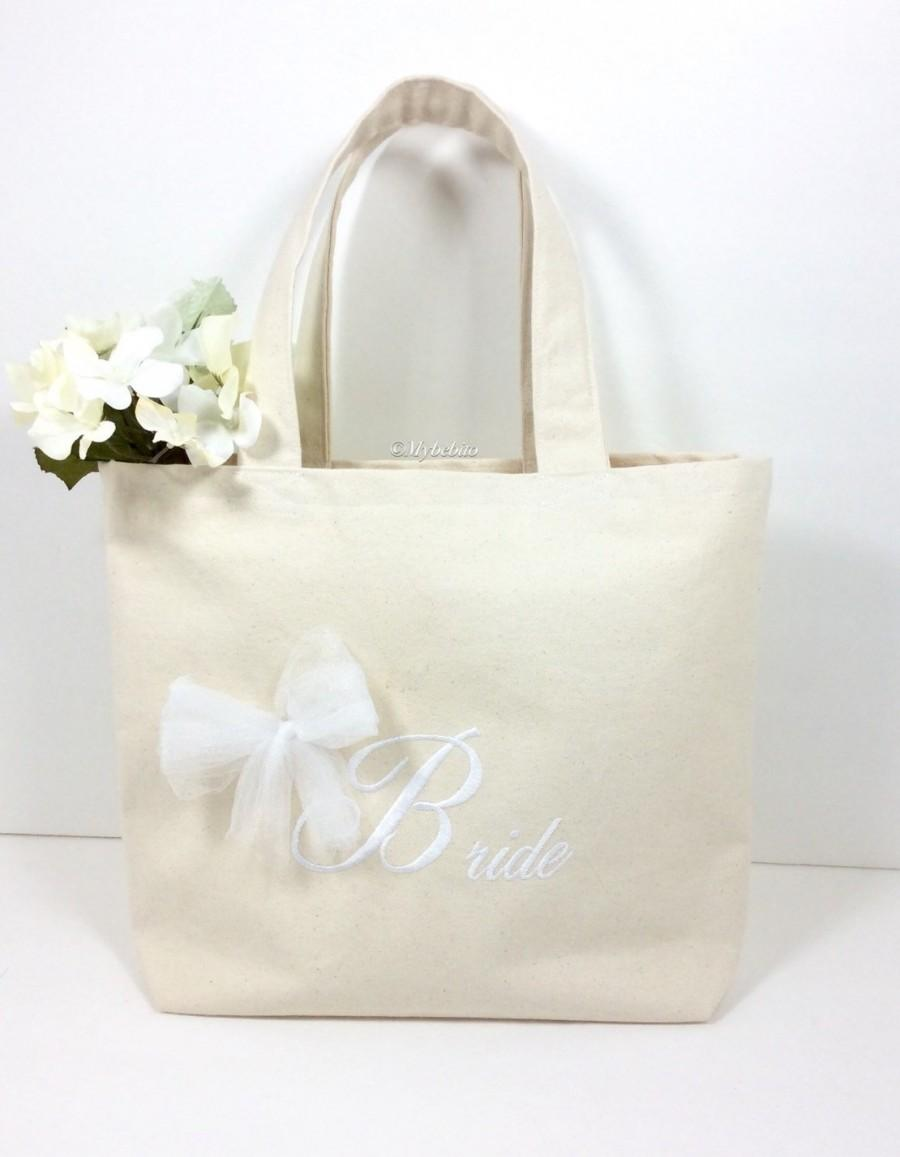 Mariage - Wedding tote bag,honeymoon bag, wedding bag for bride,bridal shower gift,beach tote bag, bride tote bag,Bridal gift bag