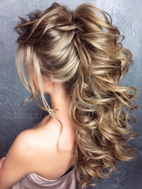 65 Long Bridesmaid Hair & Bridal Hairstyles For Wedding 2017 ...