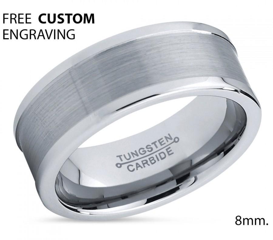زفاف - Brushed Men's Wedding Band,Tungsten Wedding Band,Tungsten Wedding Ring,Comfort Fit Tungsten,Engagement Band,Anniversary Ring,8mm Tungsten