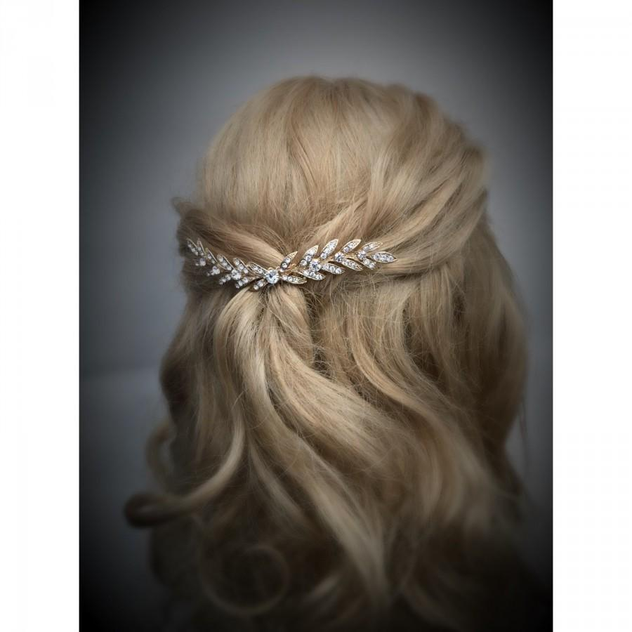 Mariage - Wheat Hair Comb ~  Rhinestone Hair Comb, Bridal Hair Accessories, Wedding Hair Combs, Crystal Hair Comb, Row of Rhinestones, Sparkle