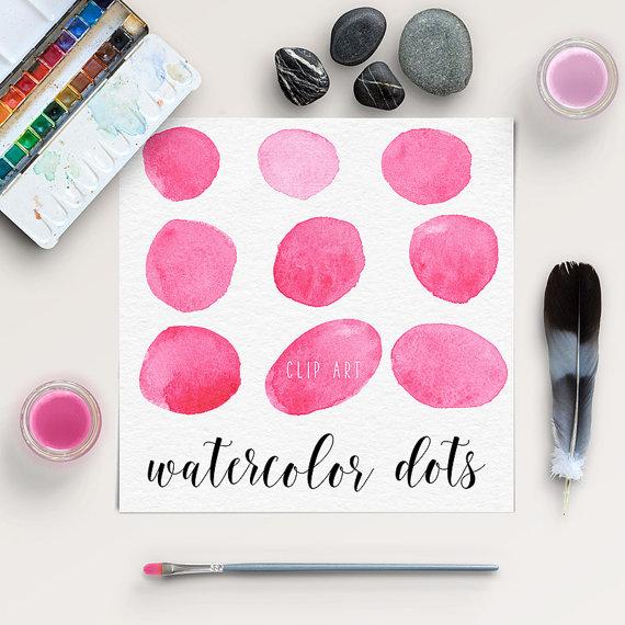 Hochzeit - Watercolor Circles Clip Art