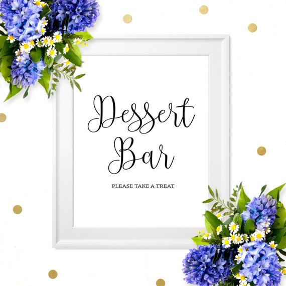 Wedding - Dessert Bar Sign-Wedding Dessert Table Chic Calligraphy Sign-Wedding Refreshment Printable Sign-Dessert Table Decor-Signs for Rustic Wedding