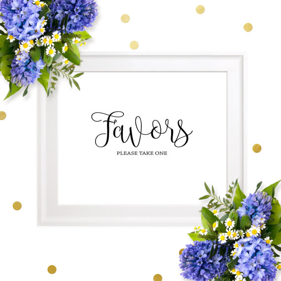 image about Please Take One Sign Printable referred to as Marriage ceremony Favors Indication-Printable Stylish Calligraphy Make sure you Just take