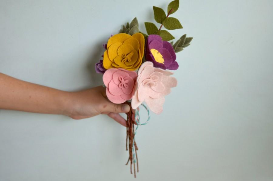 Свадьба - Felt Flower Bouquet - Alternative Bouquet - Bridal Keepsake Bouquet