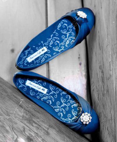 Свадьба - ONLINE SHOES STORE: Blue Flats Bridal Wedding Shoes