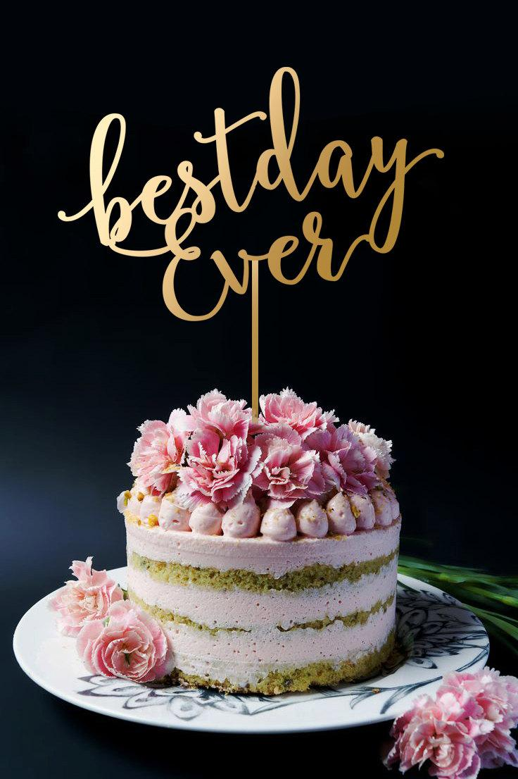 Mariage - Best Day Ever Cake Topper - Wedding Cake Topper A2028