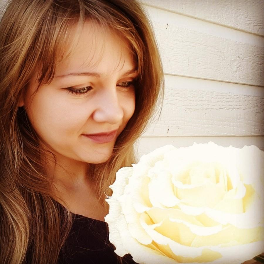 Mariage - Ivory GIGANT ROSE Paper Wedding Flower, GIGANT , paper flower, crepe paper flower