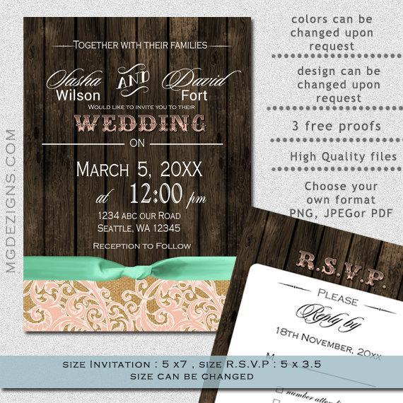 PRINTABLE Wedding Invitation Template Fall Wedding Invitations – Printable Fall Wedding Invitations