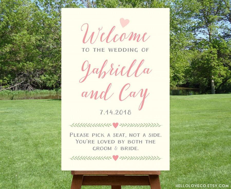 Mariage - PRINTABLE Large Custom Wedding Welcome Sign