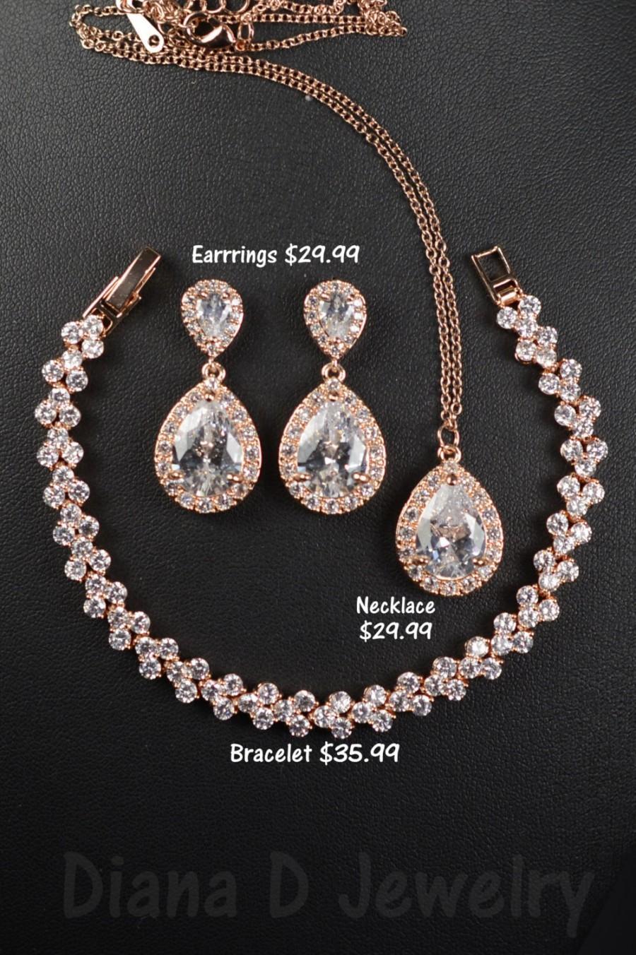 Wedding - Bridesmaid Gift, Bridesmaid Jewelry Set, Bridesmaid Earrings, Necklace and Bracelet Set, Personalized Bridesmaid Gift, Wedding Jewelry Set