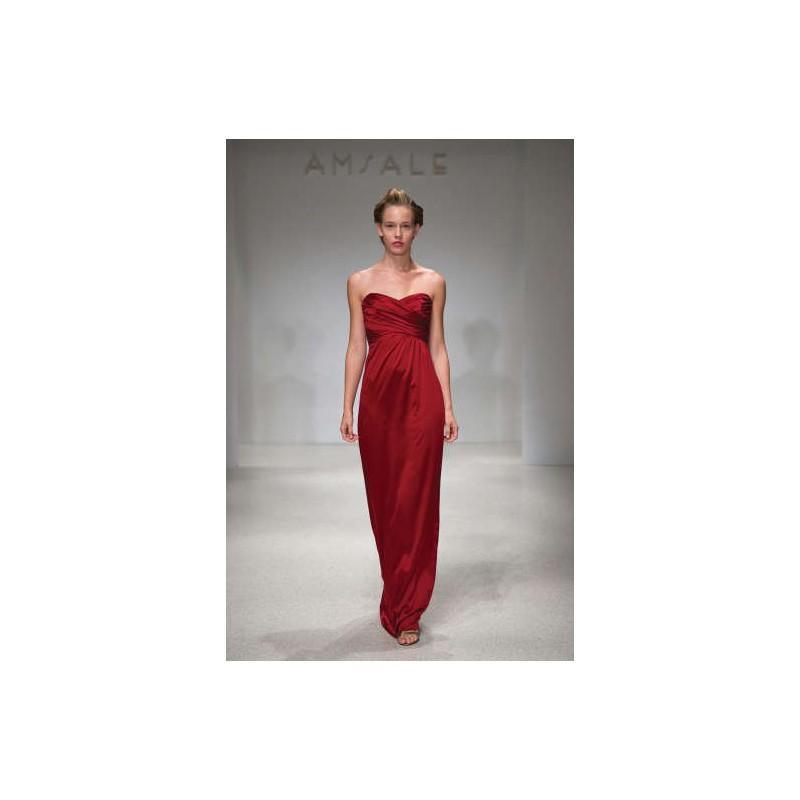 Mariage - Simple A-line Sweetheart Ruching Floor-length Stretch Satin Evening Dresses - Dressesular.com
