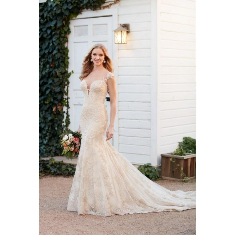 Wedding - Style 800 by Martina Liana - ChiffonLaceSatin Sweetheart Cap sleeve Fit-n-flare Chapel Length Floor length Dress - 2017 Unique Wedding Shop