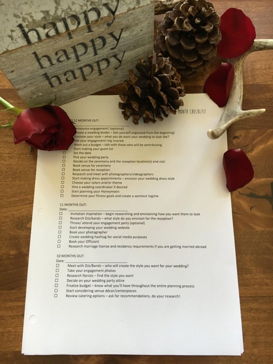 deluxe wedding planner printable wedding planner instant