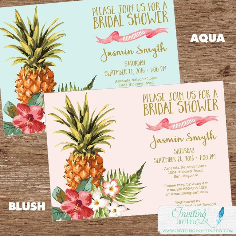 Invitation tropical bridal shower invitation 2670522 weddbook tropical bridal shower invitation filmwisefo