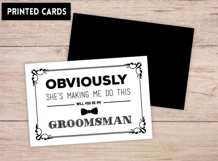Wedding - Will You Be My Groomsman Card, Will You be My Groomsman, Will You Be My , groomsman Card, obviously
