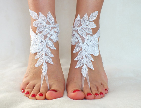 b1bb948a5c551 White Lace Barefoot Sandals
