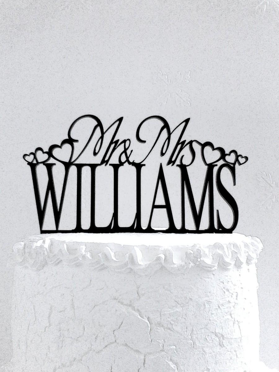 Mariage - Mr and Mrs Williams Wedding Cake Topper