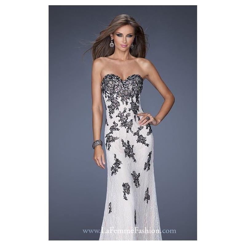 Mariage - Strapless Beaded Gown by La Femme 20076 - Bonny Evening Dresses Online