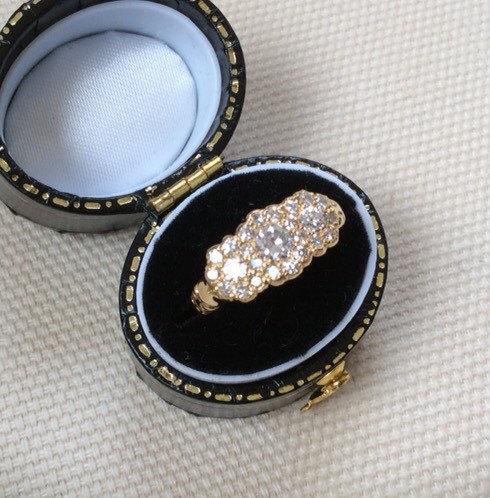 Wedding - 18ct Diamond Triple Cluster Ring   .70ct Total Diamond Weight