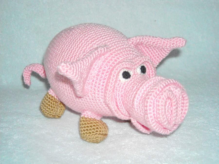 Wedding - Amigurumi pig, plush pig, crochet pig, stuffed animal pig, Stuffed pig, crochet toy pig, Soft toy pig, pig piglet, kawaii pig, knitted pig