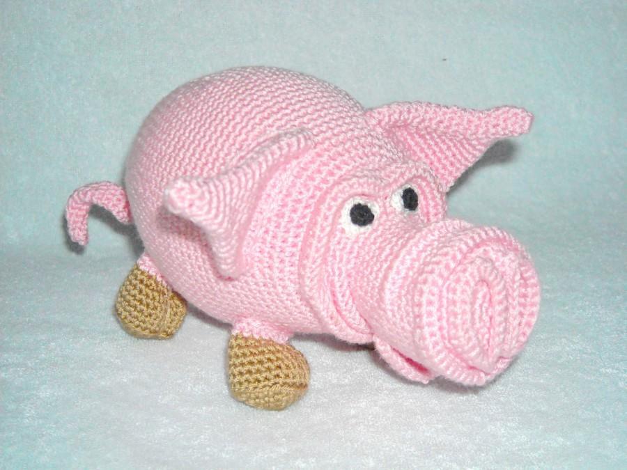 Amigurumi Pig : Amigurumi pig plush pig crochet pig stuffed animal pig stuffed