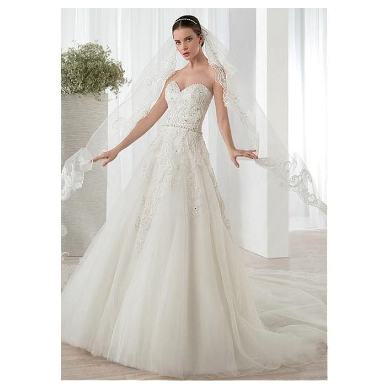 Wedding - Marvelous Tulle Sweetheart Neckline A-line Wedding Dresses with Lace Appliques - overpinks.com