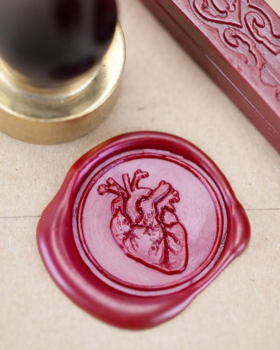 Invitation - Anatomical Heart Wax Seal Kit #2670711 - Weddbook