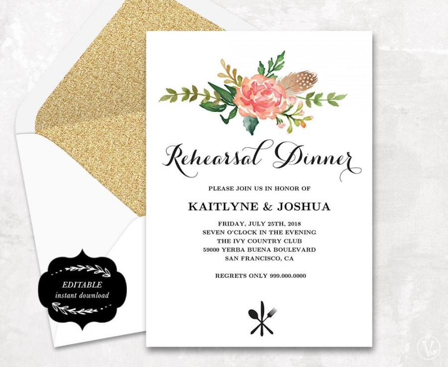 Printable Rehearsal Dinner Invitations – gangcraft.net
