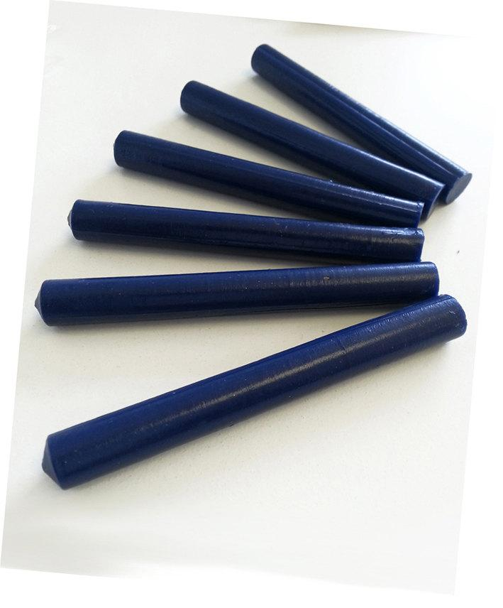 Wedding - Blue Wax sticks - Real Wax Dark Blue Navy 12mm Glue Gun Wax seal sticks (Handmade in Australia) Pure Invites