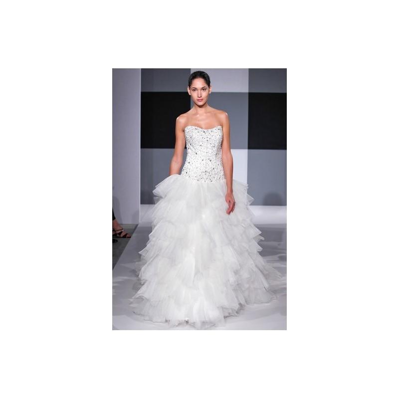 Mariage - Isaac Mizrahi SS13 Dress 11 - Ball Gown Strapless Isaac Mizrahi White Spring 2013 Full Length - Nonmiss One Wedding Store