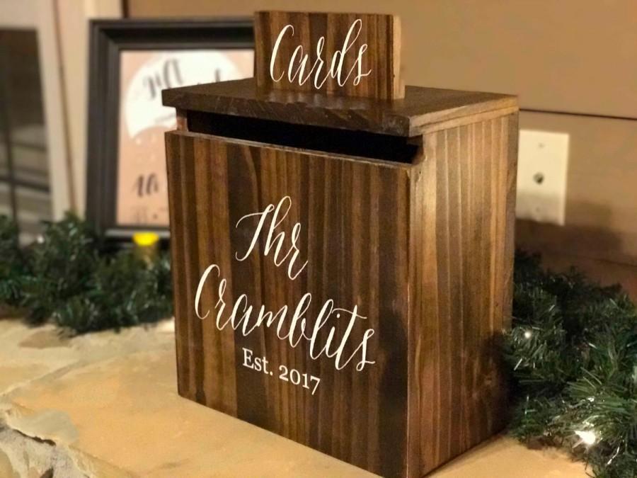 Dekor - Custom Personalized Wedding Card Box #2670825 - Weddbook