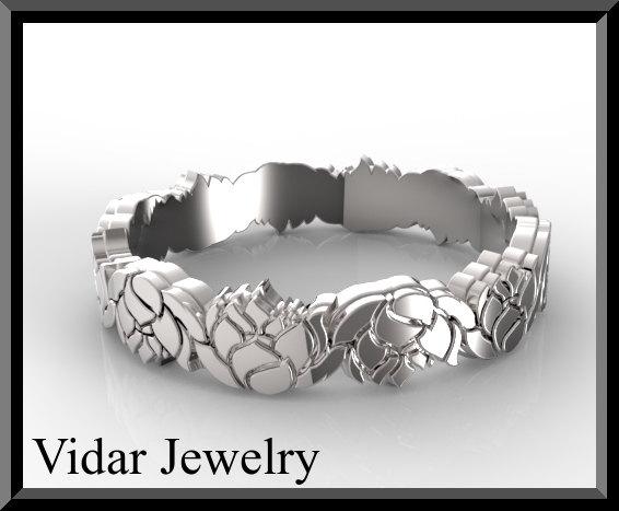 Свадьба - Lotus Flower Women's Gold Wedding Band,Unique Wedding Ring For Womens,Womens Wedding Band,Leaf Wedding Band,Leaves Wedding Ring For Women