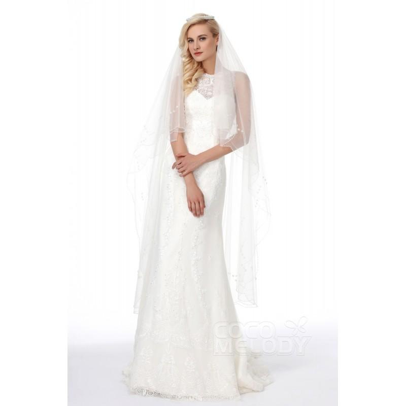 Mariage - Sweet Sheath-Column Court Train Lace In Stock Wedding Dress - Top Designer Wedding Online-Shop