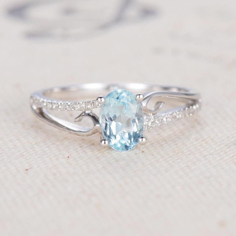 aqua aquamarine style angle platinum in ring deco art rings engagement and diamond