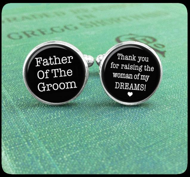 Father Of The Groom Cufflinks Thank You For Raising The Man Of My
