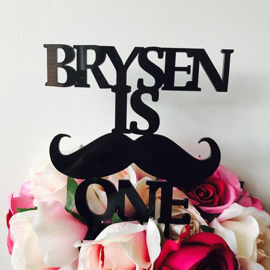 Hochzeit - Mustache Cake Topper Personalised Moustache Cake Topper Birthday Moustache Cake Topper Cake Decoration Cake Decorating Mustache