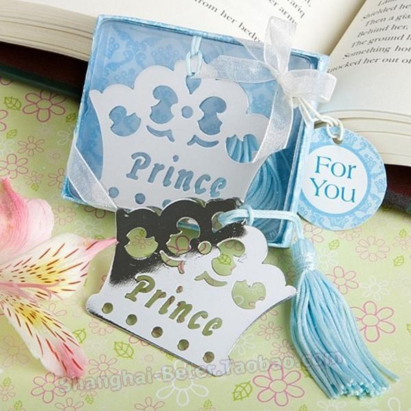 Mariage - Princess Prince Crown Bookmark Childrens Tiara Favors HH000
