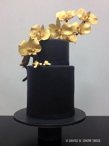 زفاف - Black And Gold Cake