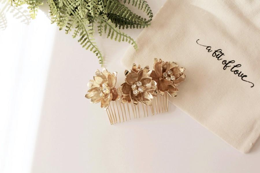 Mariage - Bridal Flower Comb #170