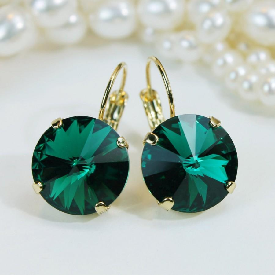 pearlized hook green bead gold earrings wrap