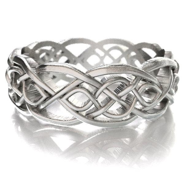 Celtic Wedding Ring With Cut Through Infinity Symbol Pattern In