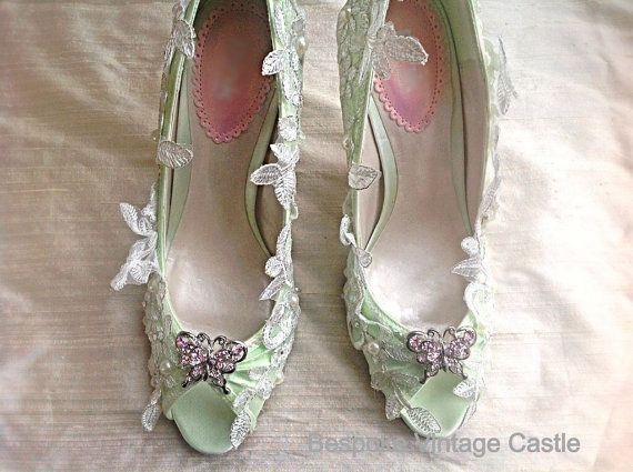 Свадьба - Wedding Shoes Shoes, Bridal Shoes, The Bride,wedding, Shies For The Bride, Bridesmaids Shoes, Shabby Chic, Marie Antoinette