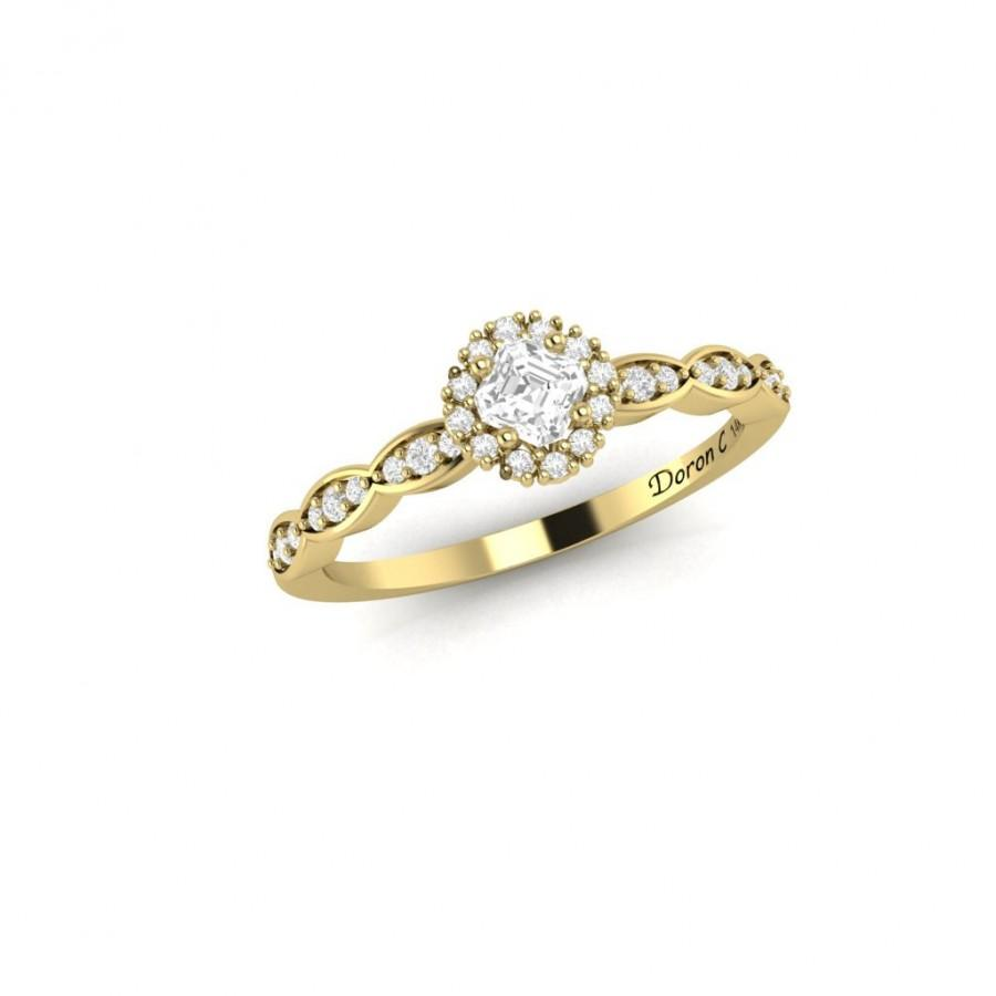 band in ring more products la gold bezel wedding bands scalloped diamond by rose design