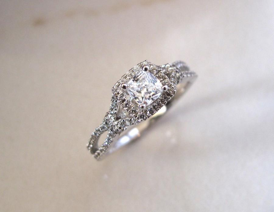 Hochzeit - AmourJewellery - Fine Handcrafted Engagement Ring; Style RB0016; 14K Gold