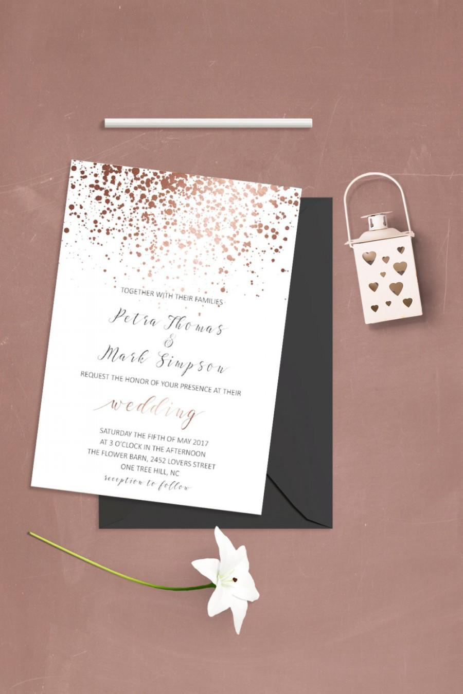 Mariage - Simple Wedding Invitation Template Modern Wedding Invitation Set Caligraphy Wedding Invitations Typography Wedding Invitation Printable File