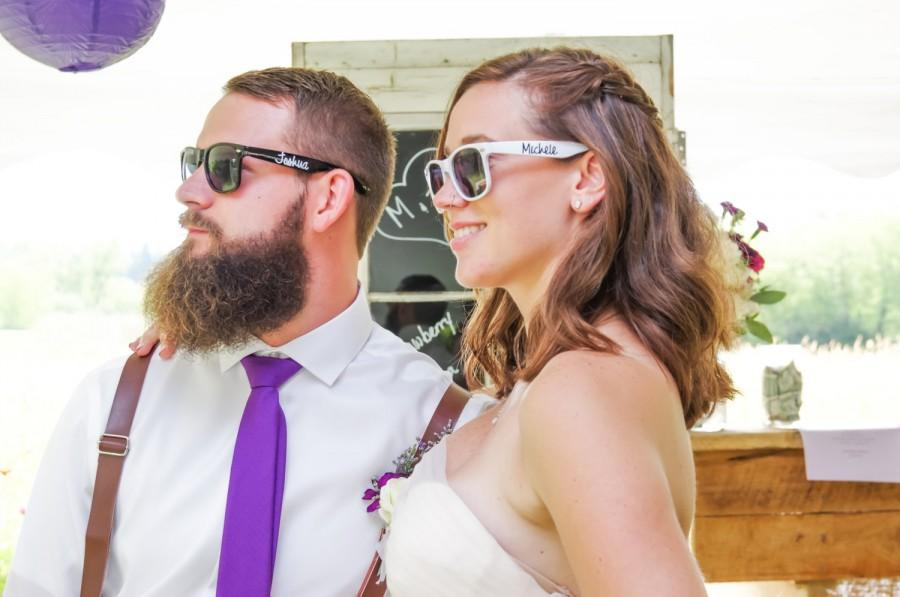 Wedding - Bride Sunglasses - Groom Sunglasses - Bride and Groom Sunglasses - Destination Wedding Favors - Engagement Photo Props - Custom Sunglasses