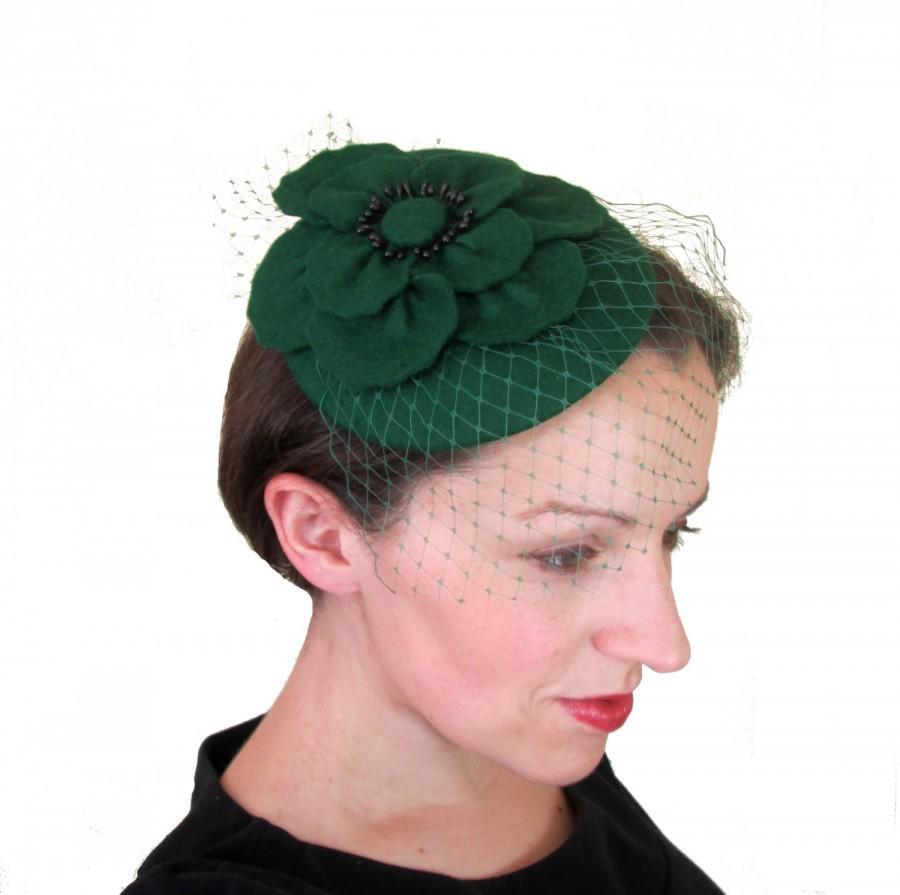 Green Hat - Green Fascinator 1986773080e