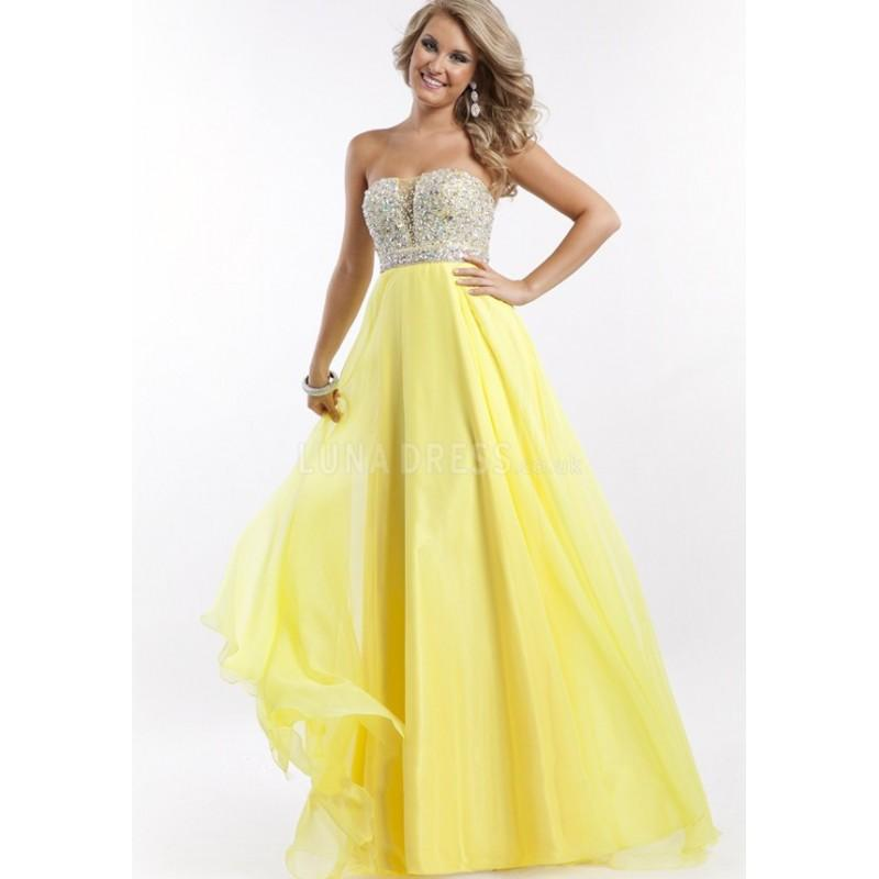 Mariage - Fancy Strapless Floor Length A line Empire Waist Chiffon Prom Dress With Beading - Compelling Wedding Dresses